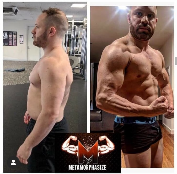 metamorphasize before and after personal training melbourne